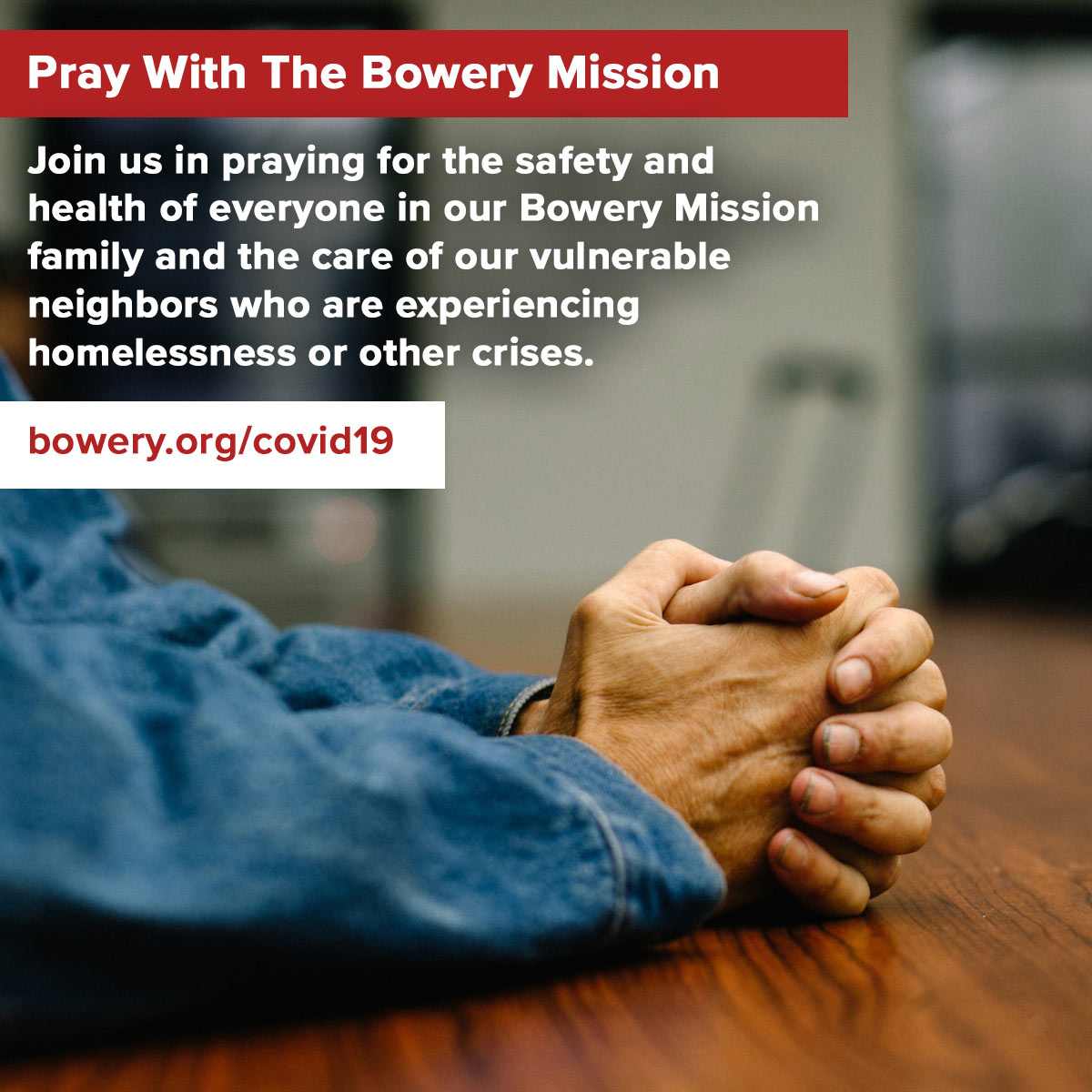Pray with The Bowery Mission