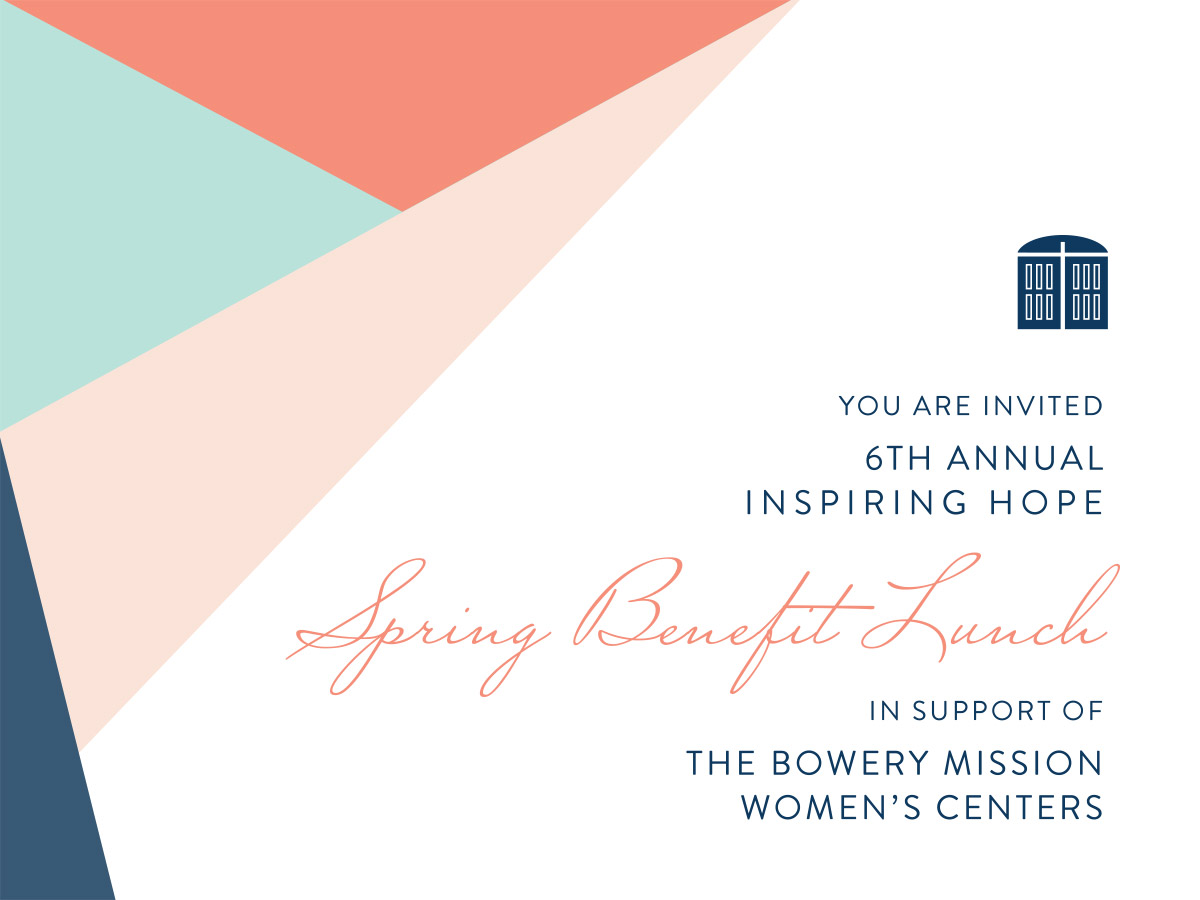 The Bowery Mission's 2019 Inspiring Hope Spring Benefit Lunch