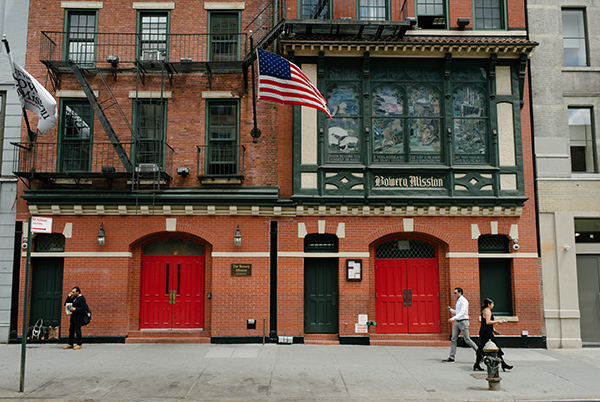 The Bowery Mission red doors