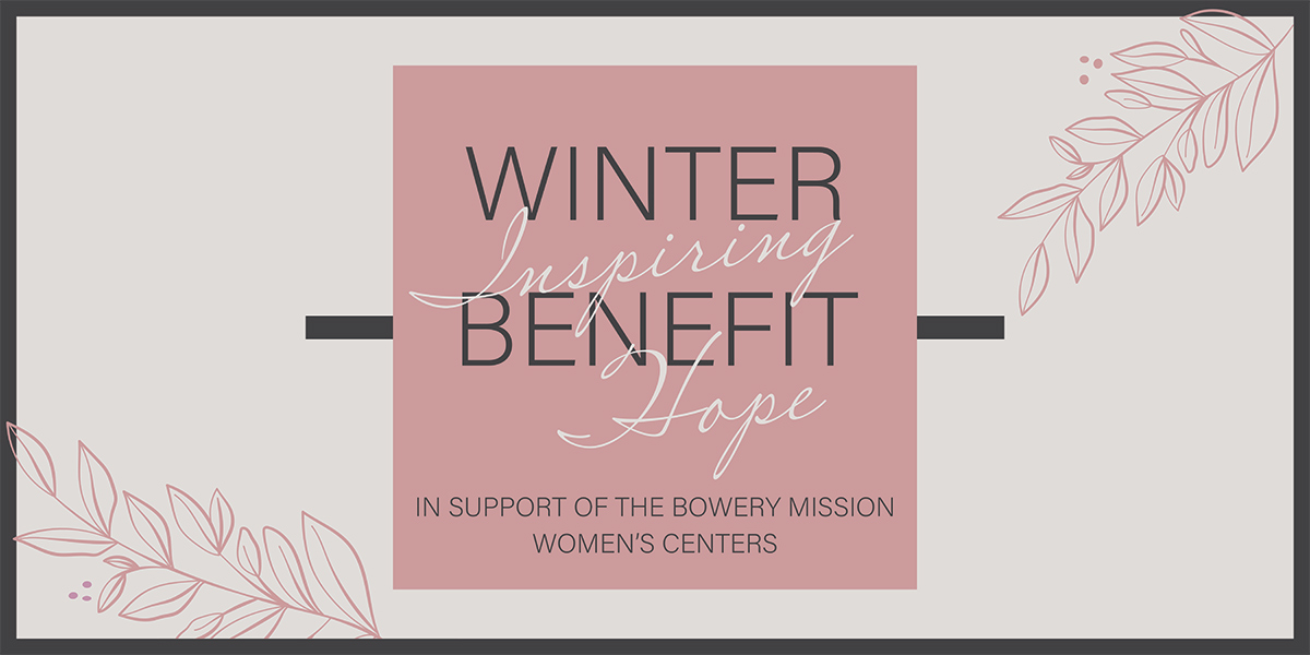 The Bowery Mission's 2021 Inspiring Hope Winer Benefit