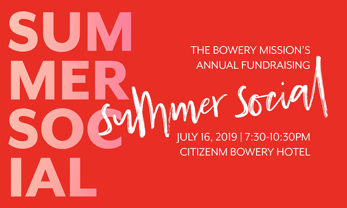 The Bowery Mission's 2019 Summer Social