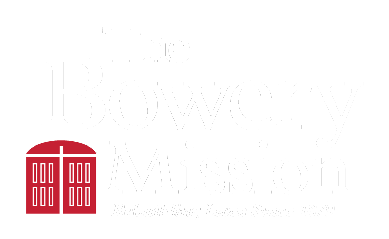 The Bowery Mission logo primary inverted